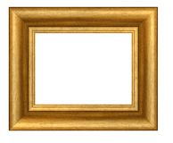 Gold plated wooden frame Royalty Free Stock Photography