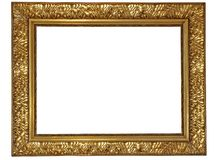 Gold plated wooden frame. Gold plated wooden picture frame Royalty Free Stock Image