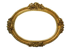 Gold Plated Wooden Frame Royalty Free Stock Photo