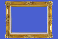 gold plated wooden picture frame stock photography