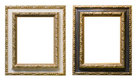 Gold plated wooden picture frame Royalty Free Stock Image