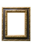 Gold Plated Wooden Picture Frame Stock Images