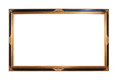 Gold plated wooden picture frame Royalty Free Stock Photo