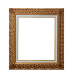 Gold Plated Wooden Picture Frame Stock Photo
