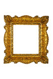Gold plated wooden picture frame Royalty Free Stock Images