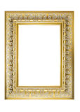 Gold Plated Wooden Picture Frame. Vintage. Design. Art. Royalty Free Stock Photo