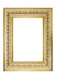 Gold Plated Wooden Picture Frame. Vintage. Design. Art. Picture frame to put your own pictures. picture frame for putting your pictures. Frames for paintings royalty free illustration