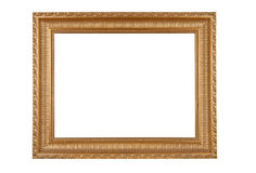 Gold Plated Wooden Picture Frame w/ Path Stock Image