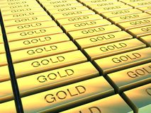 Gold Plates Stock Photography
