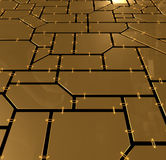 Gold plates background Stock Images