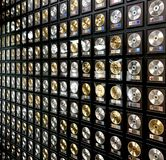 Gold and platinum records Stock Photography