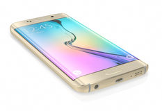Gold Platinum Samsung Galaxy S6 Edge Stock Photography