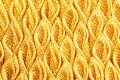 Gold pleated fabric silk Royalty Free Stock Image