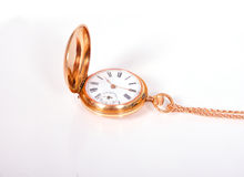 Gold pocket watch Royalty Free Stock Images