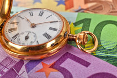Gold pocket watch Royalty Free Stock Photography