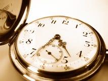 Gold pocket watch macro Stock Image
