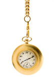 Gold Pocket Watch On A Chain Stock Image