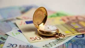 Gold pocket watch stock footage