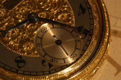 Gold pocketwatch Stock Image