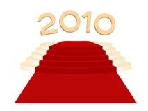 Gold podium. Anf gold 2010 New Year stock illustration