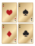Gold Poker Aces Royalty Free Stock Image