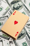 Gold poker cards Stock Images