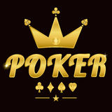 Gold poker logo 02 Stock Image