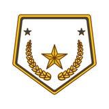gold police badge icon image Stock Photo