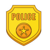 gold police badge icon image Royalty Free Stock Photos