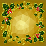 Gold polygonal background Royalty Free Stock Images