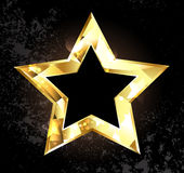 Gold polygonal star Royalty Free Stock Photography