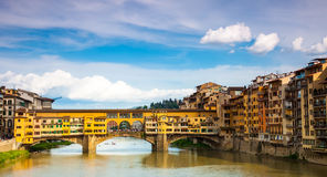 Gold (Ponte Vecchio) of Bridge in Florence Stock Photography