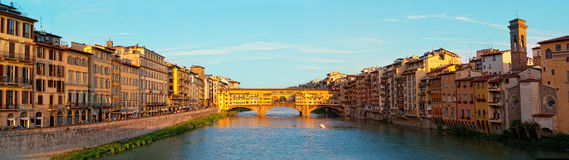 Gold (Ponte Vecchio) Bridge in Florence Stock Photography
