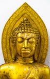 Gold Portrait buddha statue Stock Image