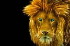 Gold Portrait Of A Lion Stock Photos