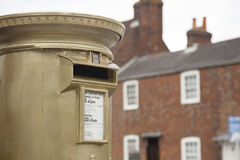 Gold Post Box Royalty Free Stock Photos