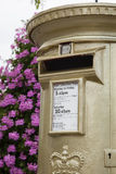Gold Post Box Royalty Free Stock Images
