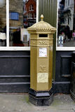 Gold Post Box. Royalty Free Stock Images