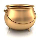 Gold Pot Empty. Over white environment Stock Image