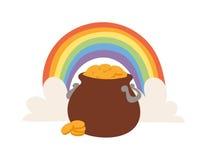Gold pot vector illustration icon Royalty Free Stock Photos