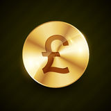 Gold pound money symbol coin vector design illustration Royalty Free Stock Image