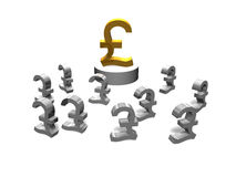 Gold pound sign Stock Photos