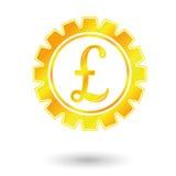 Gold pound sign Stock Photo