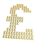 Gold pound signs Royalty Free Stock Image
