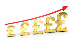 Gold pound signs graphic stock photography
