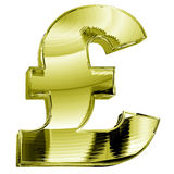 Gold pound symbol Royalty Free Stock Image