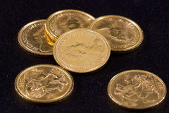 Gold Pounds Royalty Free Stock Photography