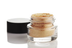 Gold powder eye shadow Royalty Free Stock Image