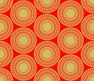 Gold power spin pattern Stock Photography