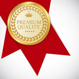 Gold Premium Quality Label Vector Illustration Stock Image